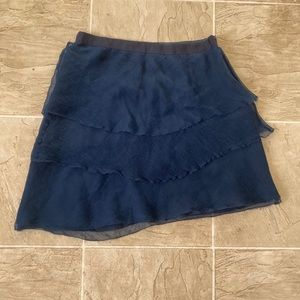 Navy L'Agence Silk Skirt 2